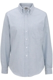 Women's Dress Button Down Oxford LS Blue Stripe Thumbnail