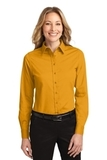 Women's Long Sleeve Easy Care Shirt Athletic Gold with Light Stone Thumbnail