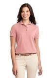Women's Silk Touch Polo Shirt Light Pink Thumbnail