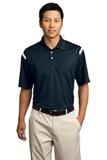 Nike Golf Dri-FIT Shoulder Stripe Polo Shirt Midnight Navy with White Thumbnail