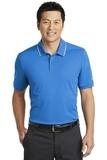 Nike Golf Dri-FIT Edge Tipped Polo Blue Sapphire with White Thumbnail