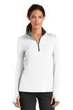 Women's Nike Golf Dri-FIT Stretch 1/2-Zip Cover-Up White with Dark Grey Thumbnail