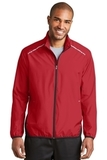 Zephyr Reflective Hit FullZip Jacket Rich Red with Deep Black Thumbnail