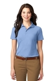 Women's Stain-resistant Polo Shirt Light Blue Thumbnail