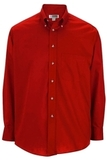 Men's Button Down Poplin Shirt LS Red Thumbnail