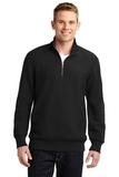 Sport-tek Super Heavyweight 1/4-zip Pullover Sweatshirt Black Thumbnail