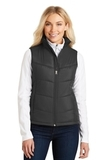 Women's Puffy Vest Black with Black Thumbnail
