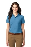 Women's Stain-resistant Polo Shirt Celadon Blue Thumbnail
