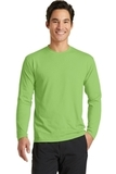 Long Sleeve Essential Blended Performance Tee Lime Thumbnail