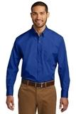 Port Authority Long Sleeve Carefree Poplin Shirt True Royal Thumbnail