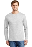 Tagless 100 Comfortsoft Cotton Long Sleeve T-shirt Ash Thumbnail