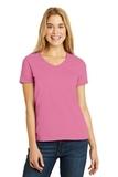 Women's V-neck T-shirt Pink Thumbnail