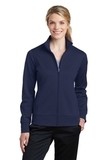 Women's Sport-Wick Fleece Full-Zip Jacket Navy Thumbnail