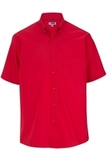 Men's Easy Care Poplin Shirt SS Red Thumbnail