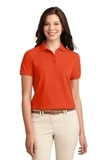 Women's Silk Touch Polo Shirt Orange Thumbnail