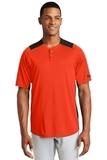 New Era Diamond Era 2-Button Jersey Deep Orange with Black Thumbnail