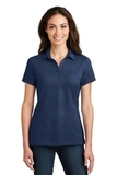 Women's Meridian Cotton Blend Polo Estate Blue Thumbnail