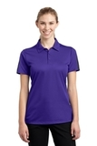 Women's Active Textured Colorblock Polo Purple with Grey Thumbnail
