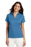 Women's Performance Fine Jacquard Polo Shirt Ocean Blue Thumbnail