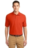 Extended Size Silk Touch Polo Shirt Orange Thumbnail