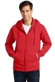 Port & Company Fan Favorite Fleece Full-Zip Hooded Sweatshirt Bright Red Thumbnail