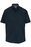Men's Easy Care Poplin Shirt SS Navy Thumbnail