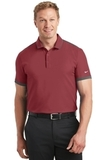 Nike Golf Dri-FIT Stretch Woven Polo Team Red with Anthracite Thumbnail