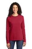 Women's Long Sleeve 5.4-oz 100 Cotton T-shirt Red Thumbnail