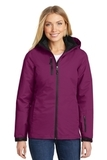Women's Vortex Waterproof 3in1 Jacket Very Berry with Black Thumbnail