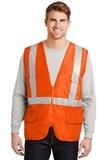 Ansi Class 2 Mesh Back Safety Vest Safety Orange Thumbnail