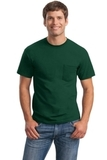 Ultra Cotton 100 Cotton T-shirt With Pocket Forest Thumbnail