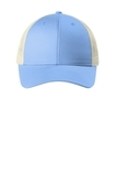 Low-Profile Snapback Trucker Cap Carolina Blue with Ecru Thumbnail