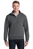 1/4-zip Cadet Collar Sweatshirt Charcoal Grey Thumbnail