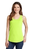 Women's 5.4 oz. 100 Cotton Tank Top Neon Yellow Thumbnail