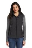 Women's Core Soft Shell Vest Black Charcoal Heather Thumbnail