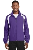 Colorblock Raglan Jacket Purple with White Thumbnail
