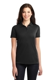 Women's 5-in-1 Performance Pique Polo Black Thumbnail