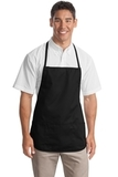 Medium Length Apron Black Thumbnail