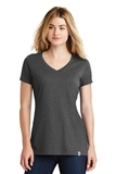 Women's New Era Heritage Blend VNeck Tee Black Heather Thumbnail