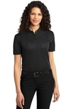 Women's Dry Zone Ottoman Polo Shirt Black Thumbnail