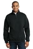 1/4-zip Cadet Collar Sweatshirt Black Thumbnail