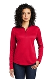 Women's Silk Touch Performance 1/4-Zip Red with Black Thumbnail