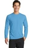 Long Sleeve Essential Blended Performance Tee Aquatic Blue Thumbnail