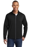 Sport-Wick Stretch Contrast Full-Zip Jacket Black with Charcoal Grey Thumbnail