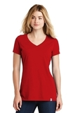 Women's New Era Heritage Blend VNeck Tee Scarlet Thumbnail