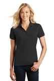 Women's Eddie Bauer Cotton Pique Polo Black Thumbnail