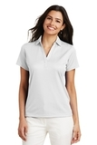 Women's Performance Fine Jacquard Polo Shirt White Thumbnail