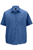 Men's Value Broadcloth Shirt SS French Blue Thumbnail