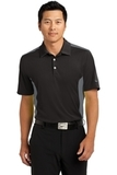 Nike Golf Dri-fit Engineered Mesh Polo Black with Dark Grey Thumbnail