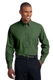 Tall Crosshatch Easy Care Shirt Dark Cactus Green Thumbnail